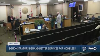 Demonstrators demand better services for homeless