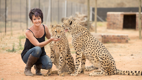 Big Cats Are 'Beast Buddies' Of This Petite Woman
