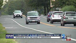 3-year-old girl struck, killed during church picnic