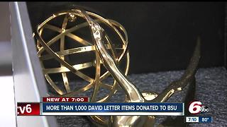 Alum David Letterman donates hundreds of items to Ball State - Video