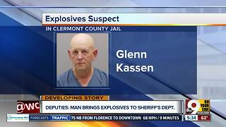 Deputies: Man drives explosives to sheriff's department