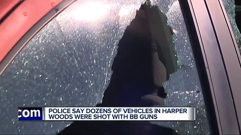 At least 24 vehicles in Harper Woods damaged by BB guns overnight