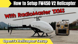 How to Setup FlyWing H1 Helicopter with RadioMaster TX16S Opentx Radio