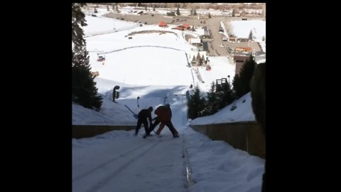 Steamboat Winter Sports Club Uses Curling Techniques to Prep Nordic Jump