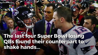 Tom Brady Catching Flak For Not Shaking Hands After Super Bowl Loss - Video
