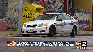 Two dead in separate shootings in west Baltimore - Video