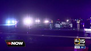 Two killed, several hurt in wrong-way crash near Maricopa - Video