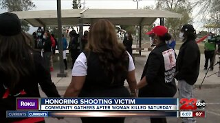 Family of woman shot over the weekend hold memorial
