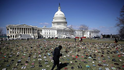 Shoes On The US Capitol Lawn Stood For Something, But Not This