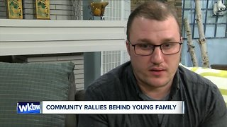 WNY community rallies behind the young family