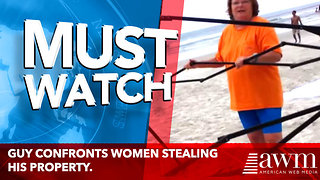 Guy Confronts Women Stealing His Property. - Video