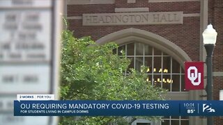 OU requiring mandatory COVID-19 testing for students living in campus dorms