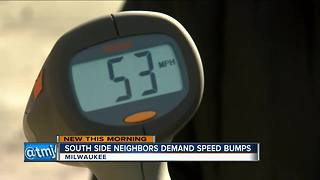 Neighbors on Milwaukee's south side fed up with speeders
