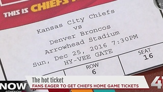 Fans eager to get Chiefs home game tickets - Video
