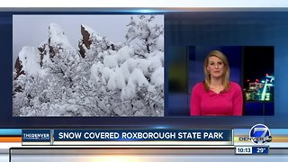 Snow created even more beautiful scenery at Roxborough State Park this weekend