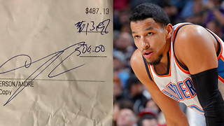 Andre Roberson BLASTED for Leaving Cheap Tip on $500 Bill, Responds to Bartender - Video