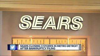 Four Sears, Kmart stores in Michigan closing after bankruptcy filing