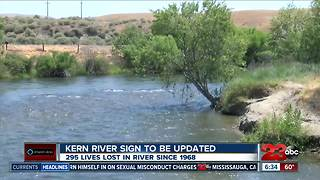 Kern River death toll sign to be updated Friday - Video