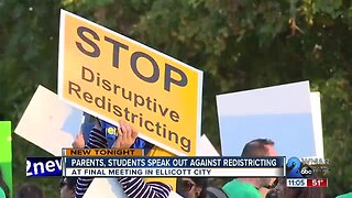 Parents, students speak out against redistricting in Howard County