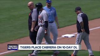 Miguel Cabrera placed on DL with hamstring strain - Video