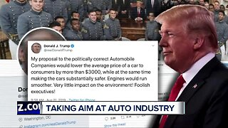 Trump tweets about automakers