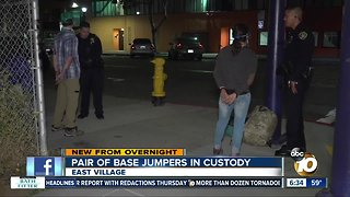 2 BASE jumpers arrested after leap from downtown crane