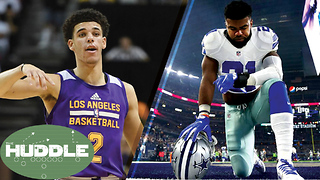 Lonzo Ball Planning His Next NON-ZO2 Shoe, Ezekiel Elliot Knocks Out DJ at a Bar-The Huddle - Video