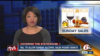 Sunday alcohol sales bill reaches new milestone, Senate approval brings bill closer to reality - Video