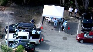 CHOPPER 5 VIDEO: First drive-through coronavirus testing site opens in West Palm Beach