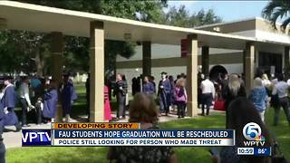FAU students await news after graduation ceremony canceled for 'credible' threat - Video