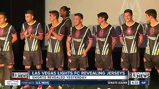 Las Vegas Lights soccer team unveils jerseys