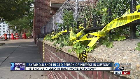 Three dead, 15 shot, including two-year-old in seven Saturday shootings in Baltimore