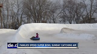 Families spend Super Bowl Sunday catching air