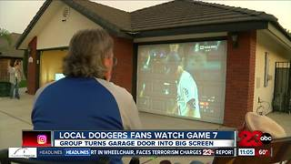 Local Dodgers fans watch Game 7 in unique way - Video