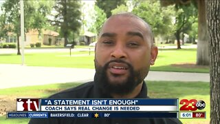 """Coach says real change is needed: """"A statement isn't enough"""""""