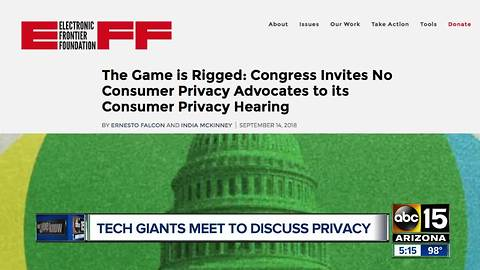 Tech giants to meet on Capitol Hill Wednesday