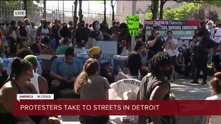 Protesters take to the streets in Detroit