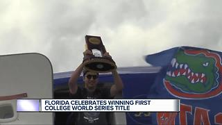 Faedo, Gators celebrate first CWS championship - Video