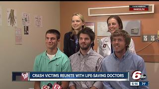 Crash victims reunite with life-saving doctors - Video