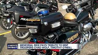 Memorial ride pays tribute to two fallen MSP troopers