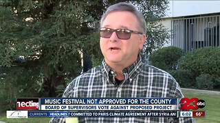 Board of supervisors vote against music festival venue - Video