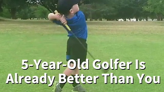5-Year-Old Golfer Is Already Better Than You - Video