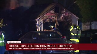 Home explosion injures 2 in Commerce Township