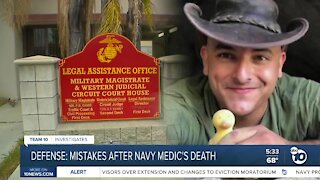 Mistakes made after Navy medic's death
