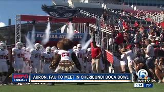Akron, Florida Atlantic named to Cheribundi Tart Cherry Boca Raton Bowl - Video