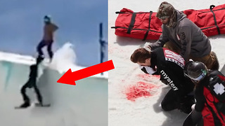 Shaun White Suffers BLOODY Face Injury in Nasty Halfpipe Crash During Olympic Training - Video