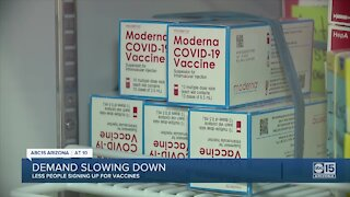 Valley healthcare worker sees drop in COVID-19 vaccine appointment scheduling