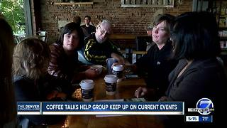 Current event coffee talks help get people with disabilities more involved in the community - Video