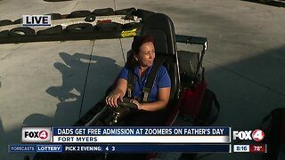 Dads get in free at Zoomers this Father's Day