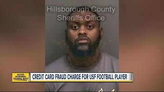 USF football player arrested for credit card fraud